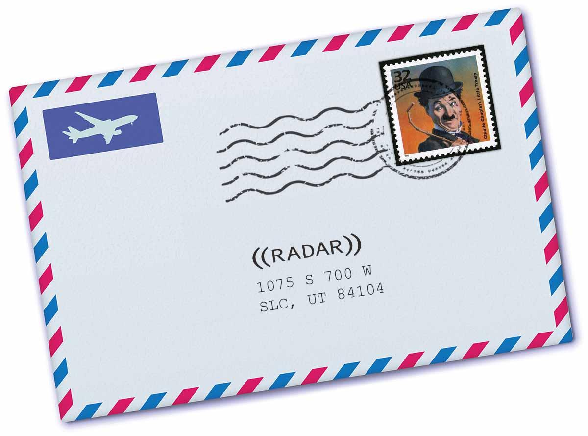 envelope addressed to contact RADAR